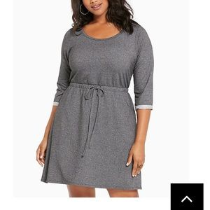 Torrid Sweatshirt tie waist dress